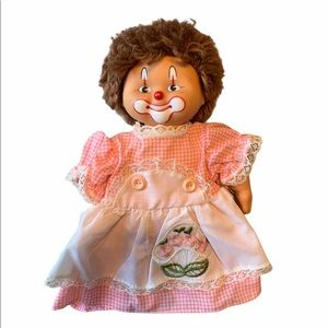 Vintage Clown Doll Pink Dress